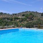 vue de la piscine eau salee
