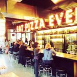 """""""Eat Pizza Everyday"""", bar view inside"""