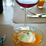 carrot soup appetizer