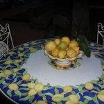 Sorrento Lemons in hotel grounds