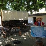 Sutter Fort Covered Wagon and Character Docent