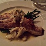 Red fish with Lump Crab Meat. Delicious!