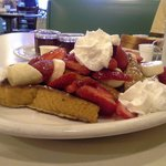 Strawberry and banana french toast