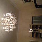 Beautiful chandelier in room
