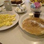 Short stack and scrambled eggs