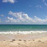 Beach in front of resort - choppy seas