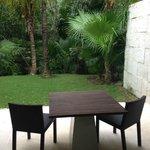 Outdoor patio in Patio Junior Suite