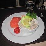 Assiette de Crevette au Pamplemousse