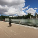 Biking through Parque del Retiro