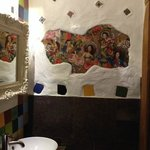 Dali inspired ladies bathroom