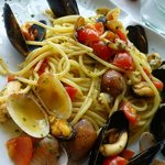 Pasta with seafood - delicous