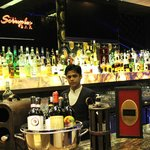 The Pllazio Hotel - a cheery, well-stacked bar