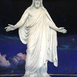 """Christus"" inside Visitor's Center"