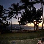 Beautiful sunset at Old Lahaina Luau