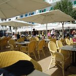 The Cala Bona outdoor restaurant.