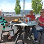 Lunch at the waterfront with friends