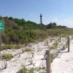 Lighthouse Beach in Sanibel, five minutes from the resort