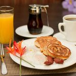 This is no continental breakfast, enjoy full menu options from loaded omelets to banana pancakes