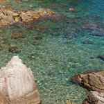 Crystal clear emerald waters of Lloret.