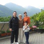 On terrace with Ivana (Landlady)