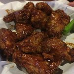 Honey BBQ wings (far view)