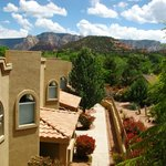 The views of surrounding Sedona.