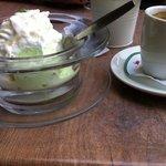 Мой кофе эспрэссо и мороженое