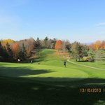 fall view of 9th Hole, Par 3