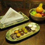 Petite fours and fruit greeted us in our room upon our arrival