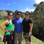 My cousin and I with Hector at Macchu Picchu