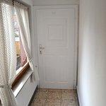 Hallway and door to the toilet