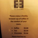 No free coffee here