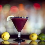 The award winning El Corazon Martini, blood-orange, lime & passion fruit