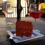 German chocolate cake & sangria