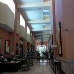 Corridor near reservations and hotel bar/lobby