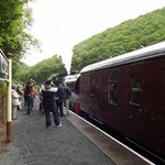 The train at Bronwydd arms