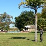 la pileta y el parque