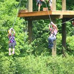 Double Zip lining (NOT a race people)