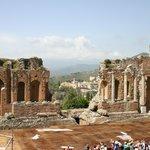 View looking over Taormina
