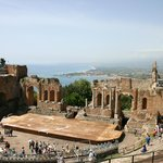 The amphitheatre and view over the bay