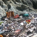 Rubbish on beach!