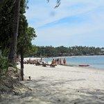 strand bij het hotel, ruimte en rust
