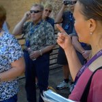 Claudia explaining the daily events at the Colosseum.