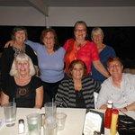 the girls on the patio at Bobby's Restaurant Vero Beach, Fl