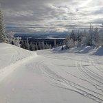 Empty Lapland piste