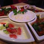 Meat Thali Dish