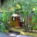 Casona (semicubierto) y jardin
