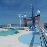 pool area on floor 9