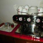 espresso machine in common room