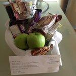 Gift basket on arrival from Ms. Kolbert